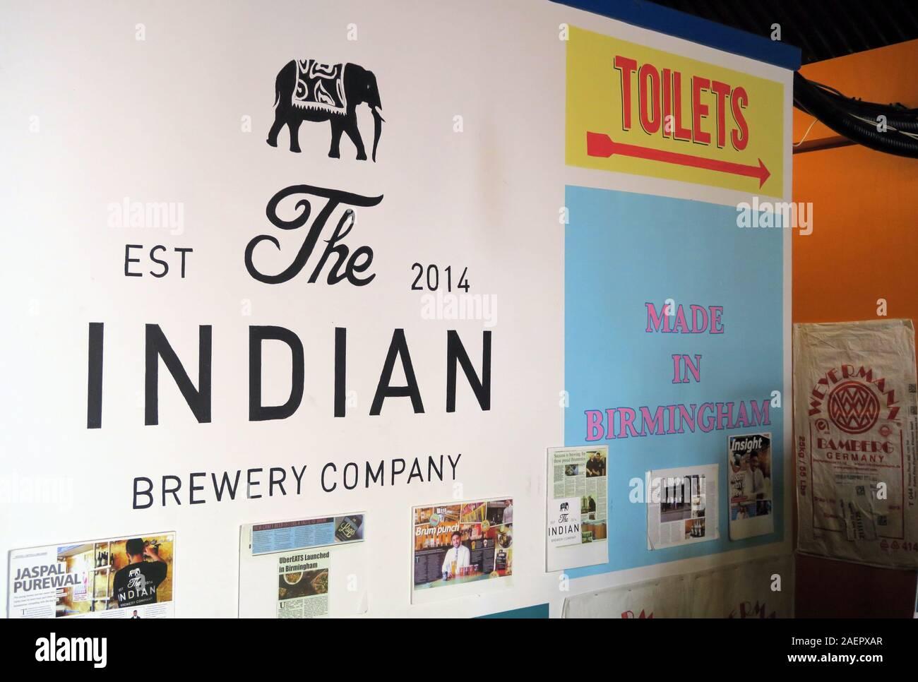 Dieses Stockfoto: The Indian Brewery Company, Snowhill, Arch 16 Livery Street, Birmingham, West Midlands, England, Großbritannien, B3 1EU - 2AEPXA