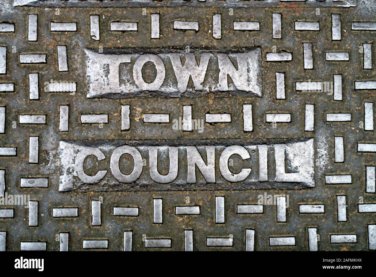 Dieses Stockfoto: Bridgwater Grid, Bridgwater Town, Somerset, South West of England, England, Großbritannien - Town Council - 2AFMKH