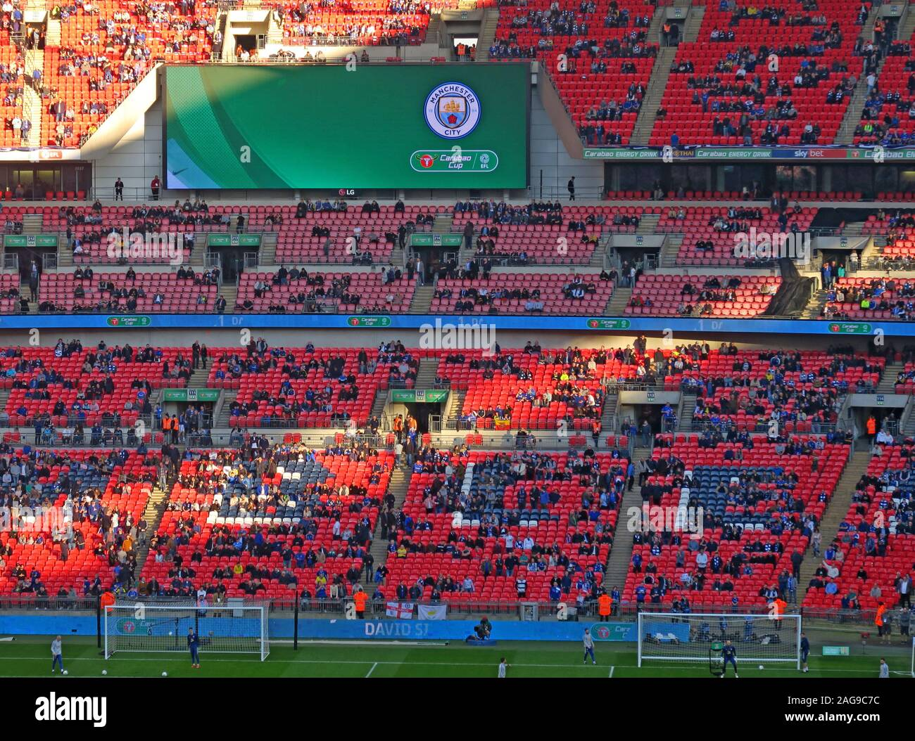 Dieses Stockfoto: MCFC, Manchester City, Manchester City Football Club vs Chelsea, Carabao Cup Finale 24/02/2019 Wembley Stadion, London, England, UK-Feb 2019 - 2AG9C7