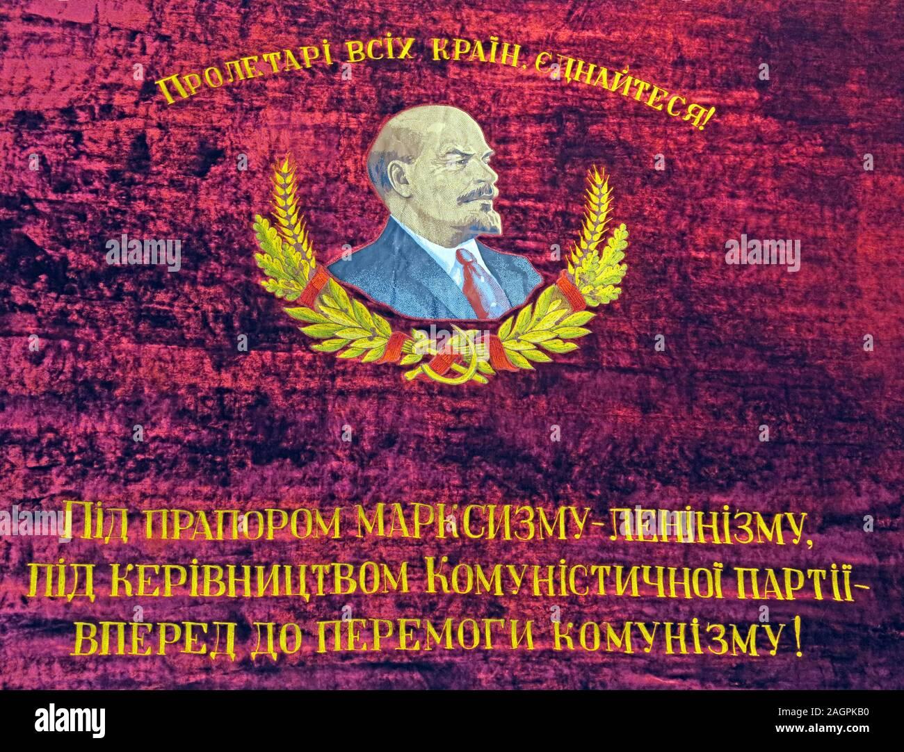 Dieses Stockfoto: Lenin, die Welt in den Kommunismus, vorwärts in den Kommunismus zu übertragen - 2AGPKB
