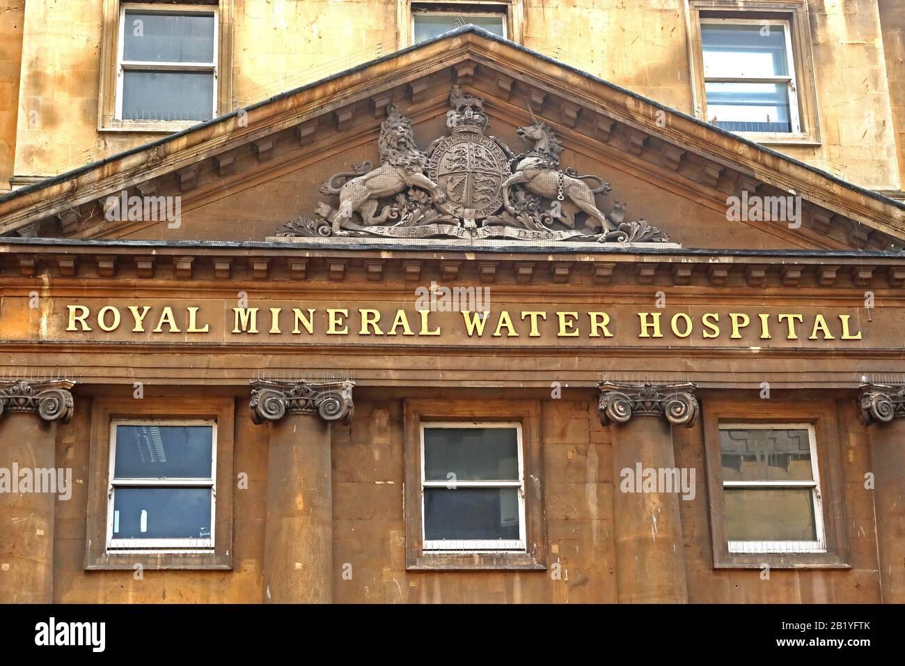 Dieses Stockfoto: Royal Mineral Water Hospital, Krankenhaus ursprünglich für Arme, lokal bekannt als The Min, Gascoyne House Upper Borough Walls, Bath, Somerset, BA1 - 2B1YFT