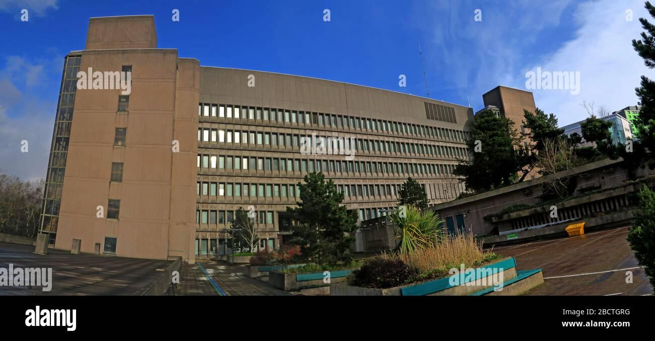 Dieses Stockfoto: Stadtgebäude von Stockport, rathäuser, Greater Manchester, Cheshire, England, Großbritannien - 2BCTGR