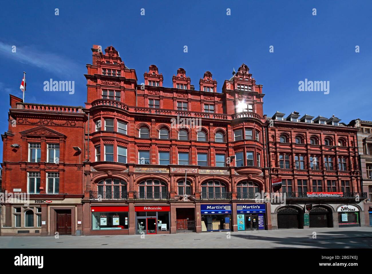 Dieses Stockfoto: Castle Street, roter Backstein, British Foreign Marine Insurance Co Gebäude, Stadtzentrum, Liverpool, Merseyside, England, Großbritannien, L2 - 2BG7KE