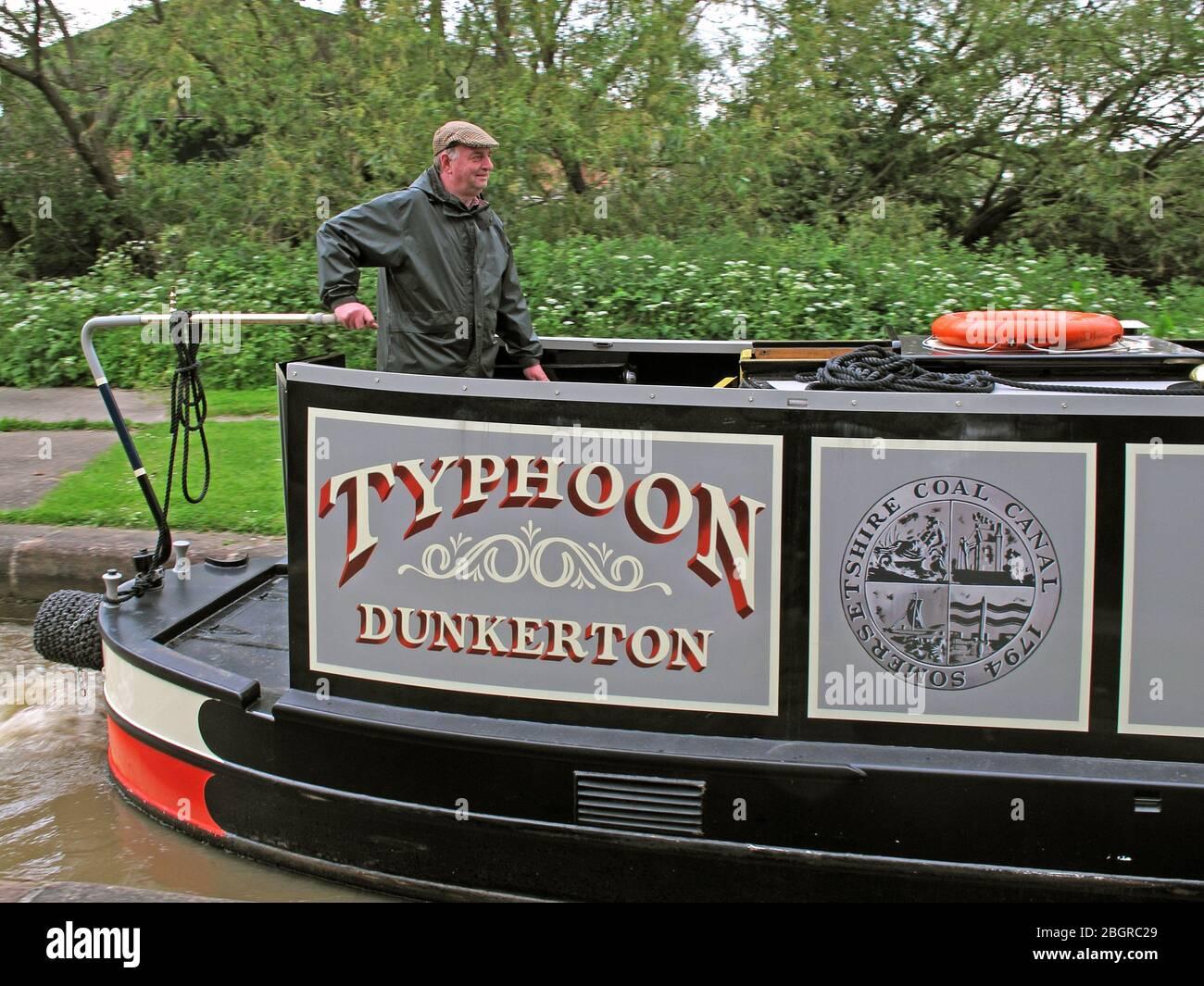 Dieses Stockfoto: Typhoon Dunkerton Somersetshire Coal Canal 1794, Waterway Canal Boat, Narrowboat, England, Großbritannien, Großbritannien - 2BGRC2