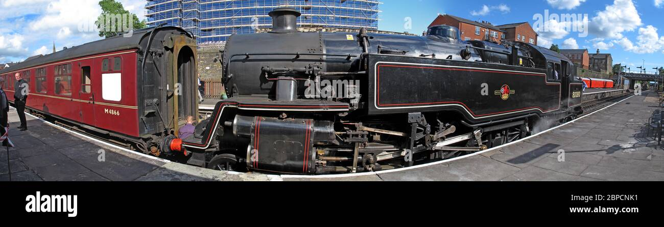 Dieses Stockfoto: ELR, East Lancs Railway, East Lancashire Railway Bury Station, Greater Manchester, England, UK - Bahnsteigpanorama - 2BPCNK