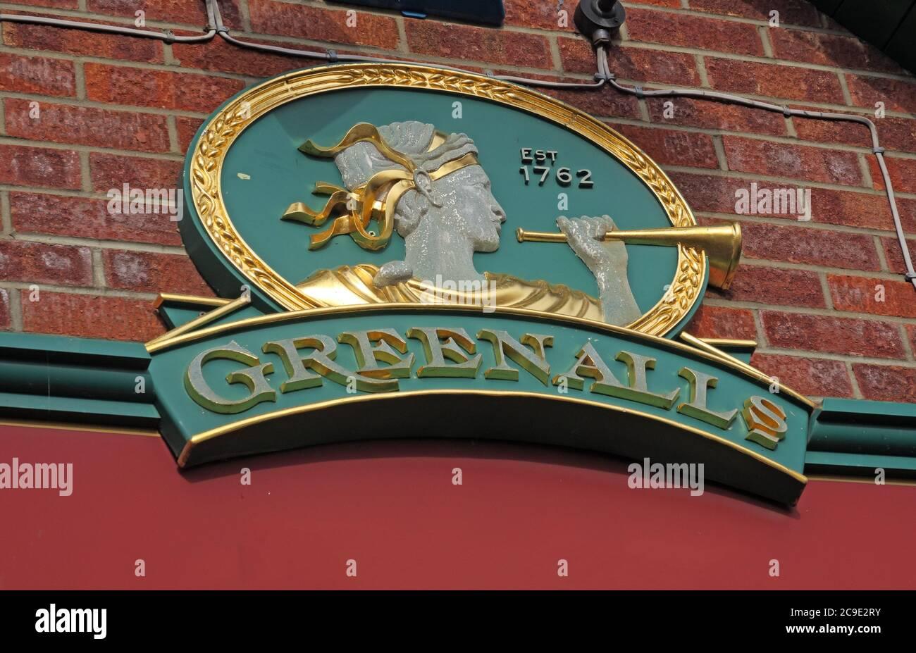 Dieses Stockfoto: Greenalls Brewery Sign, Bridgwater, Somerset, Südwestengland, - 2C9E2R