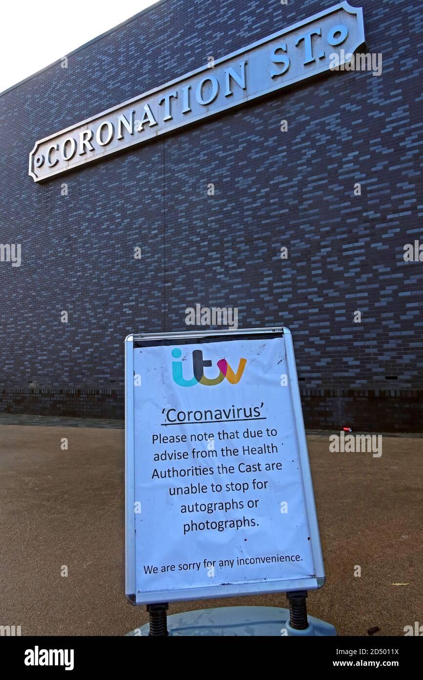Dieses Stockfoto: ITV Studio, Salford Quays, Heimstadion der Coronation Street, Trafford Wharf Rd, Trafford Park, Stretford, Manchester, England, UK, M17 1AB, von Tony Warren - 2D5011