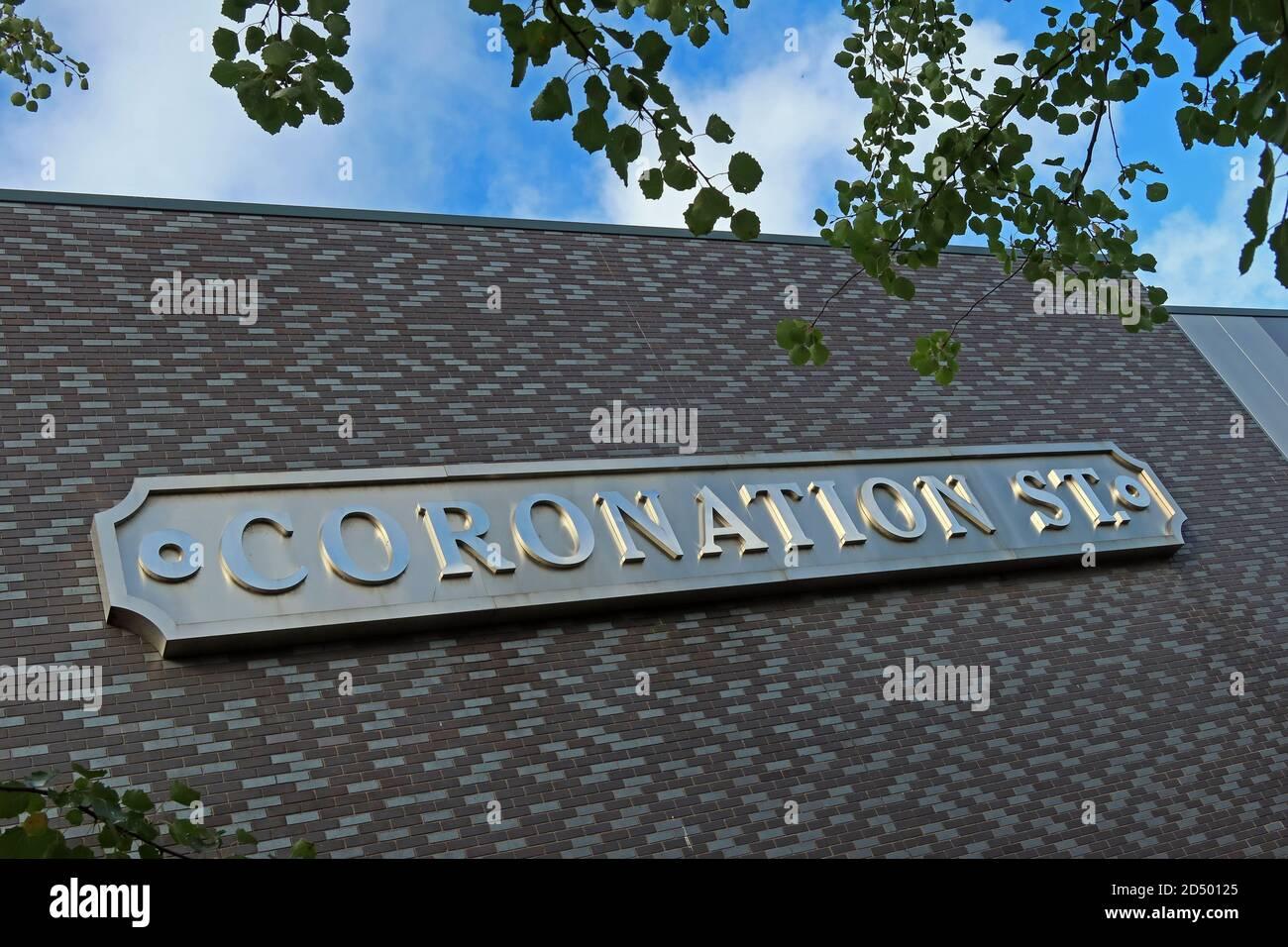 Dieses Stockfoto: ITV Studio, Salford Quays, Heimstadion der Coronation Street, Trafford Wharf Rd, Trafford Park, Stretford, Manchester, England, UK, M17 1AB, von Tony Warren - 2D5012