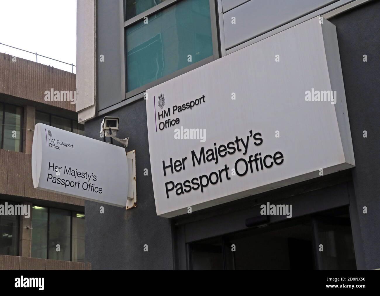 Dieses Stockfoto: HMPO, her Majestys Passport Office, Old Hall Street, Liverpool, Merseyside, England, Großbritannien, regionales Passverarbeitungszentrum - 2D8NX5