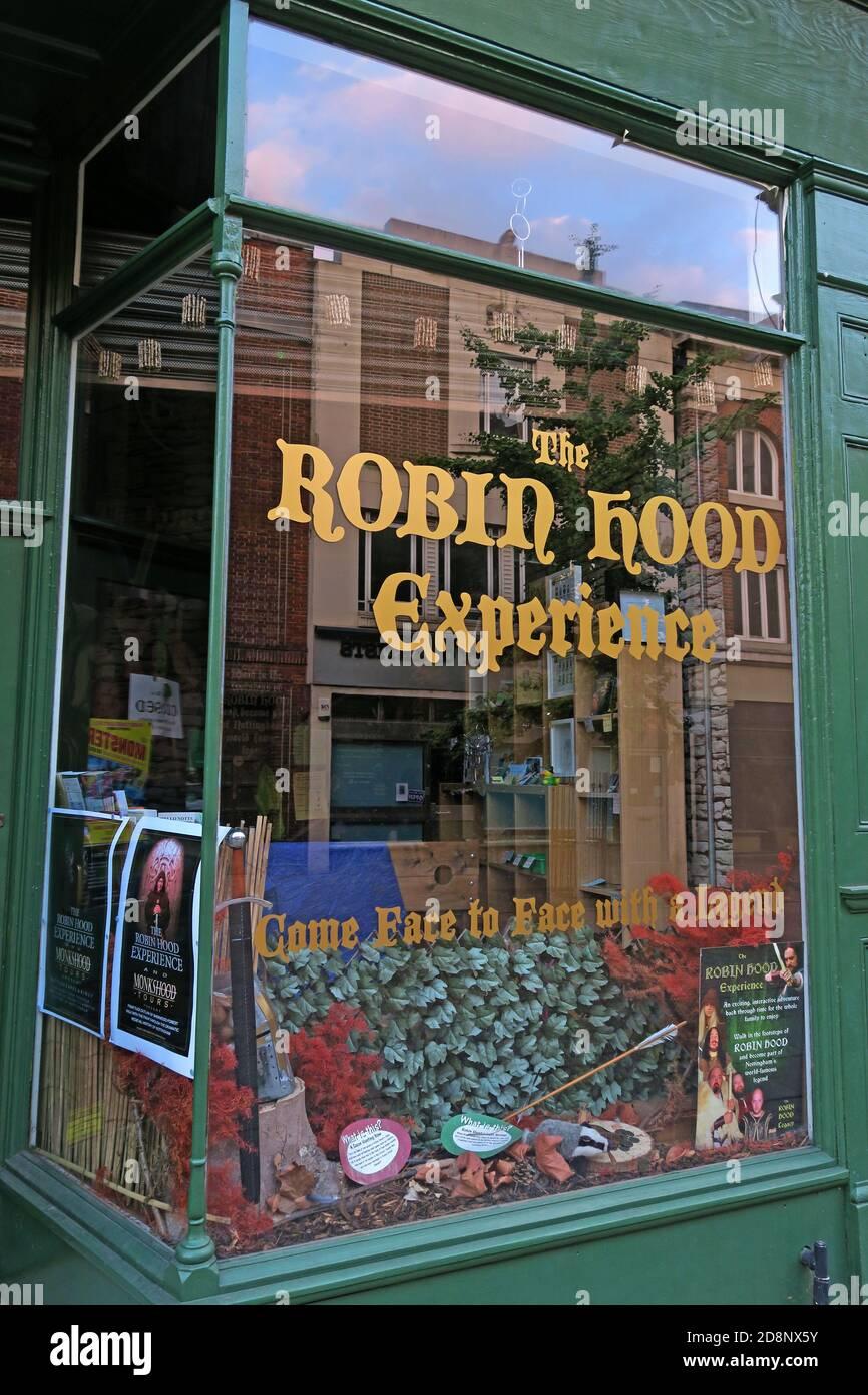 Dieses Stockfoto: The Robin Hood Experience, Friar Lane, Nottingham, England, Großbritannien, NG1 6EB - 2D8NX5