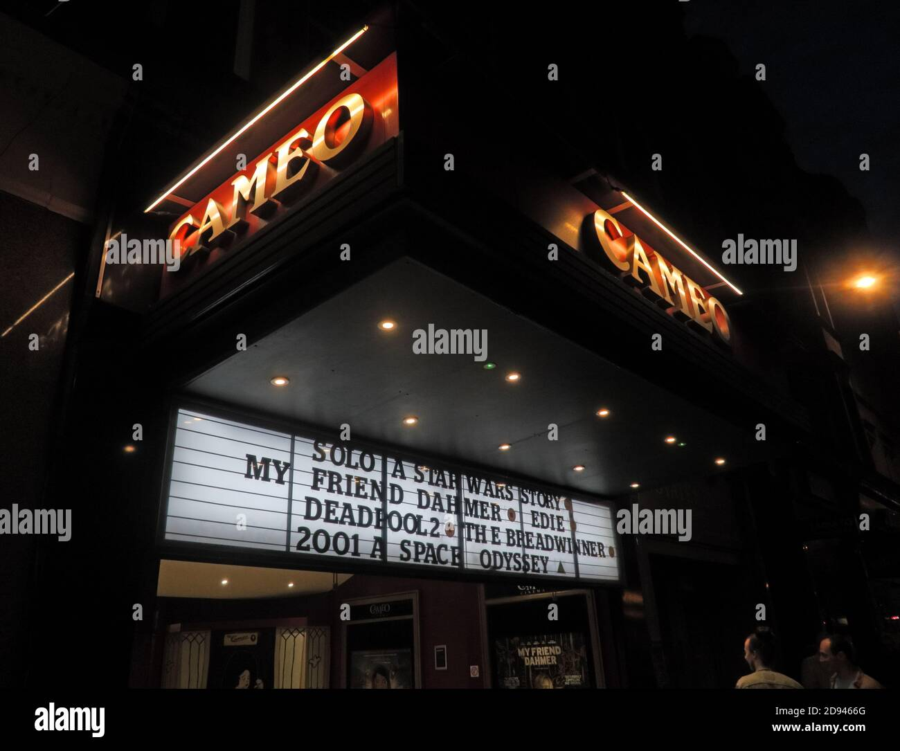 Dieses Stockfoto: Cameo Cinema,Home Street,Tollcross,Edinburgh - Solo A Starwars Story,2001 A Space Odyssee - 2D9466