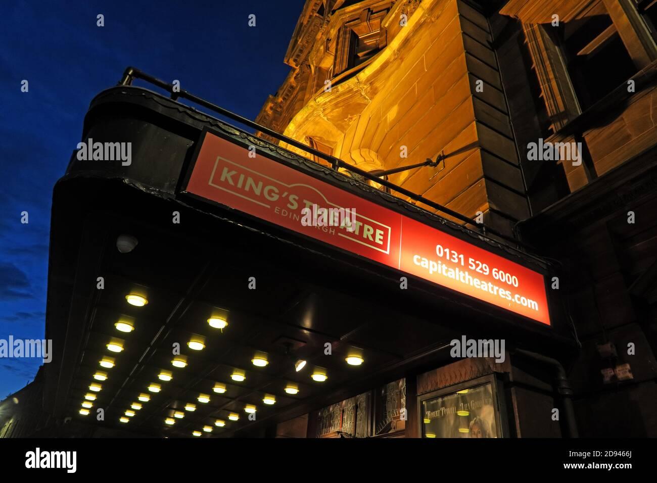 Dieses Stockfoto: King's Theatre, 2 Leven St, Tollcross, Edinburgh, Schottland, Großbritannien, EH3 9LQ - 2D9466