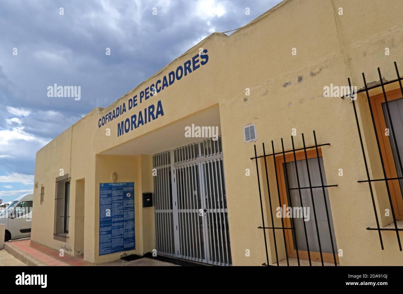 Dieses Stockfoto: Büro der Cofradia de pescadores Moraira Fischer, Alicante, Spanien, EU - 2DA91G