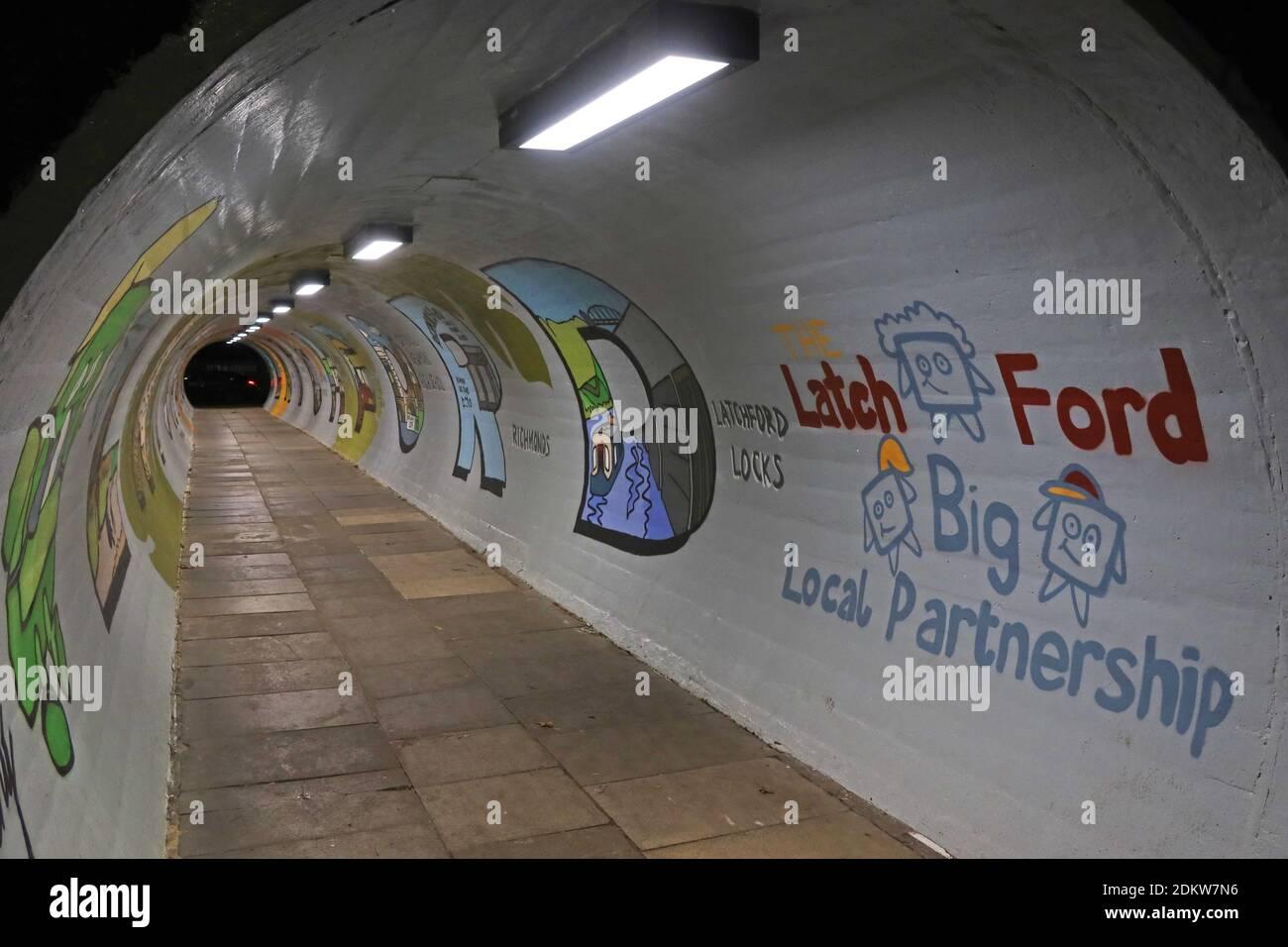 Dieses Stockfoto: A50, Fußgängertunnel, Latchy, The Latchford Partnership, Knutsford Road, Latchford, Warrington, Cheshire, England, Großbritannien, WA4 - 2DKW7N