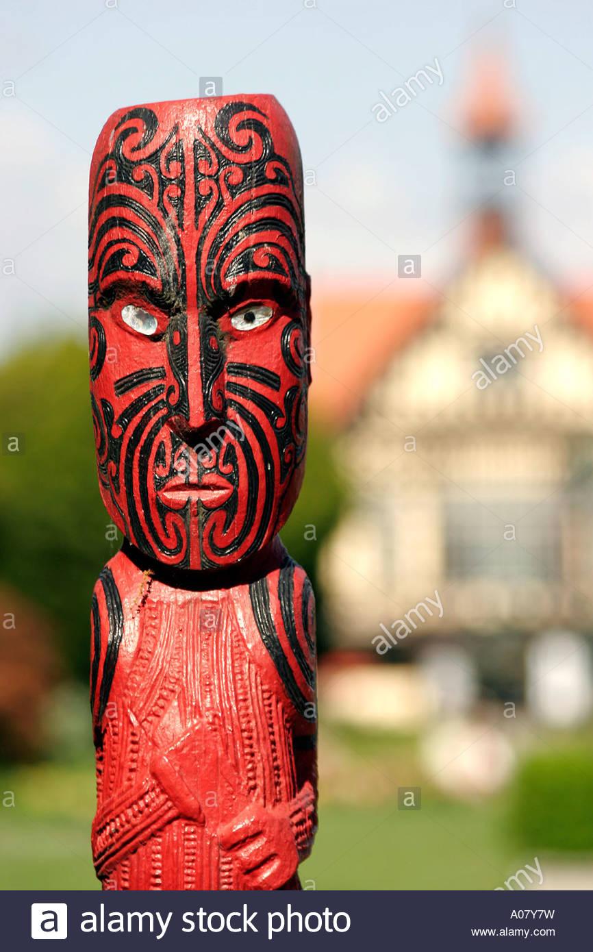 Rotorua, Museum für Kunst und Geschichte Stockbild
