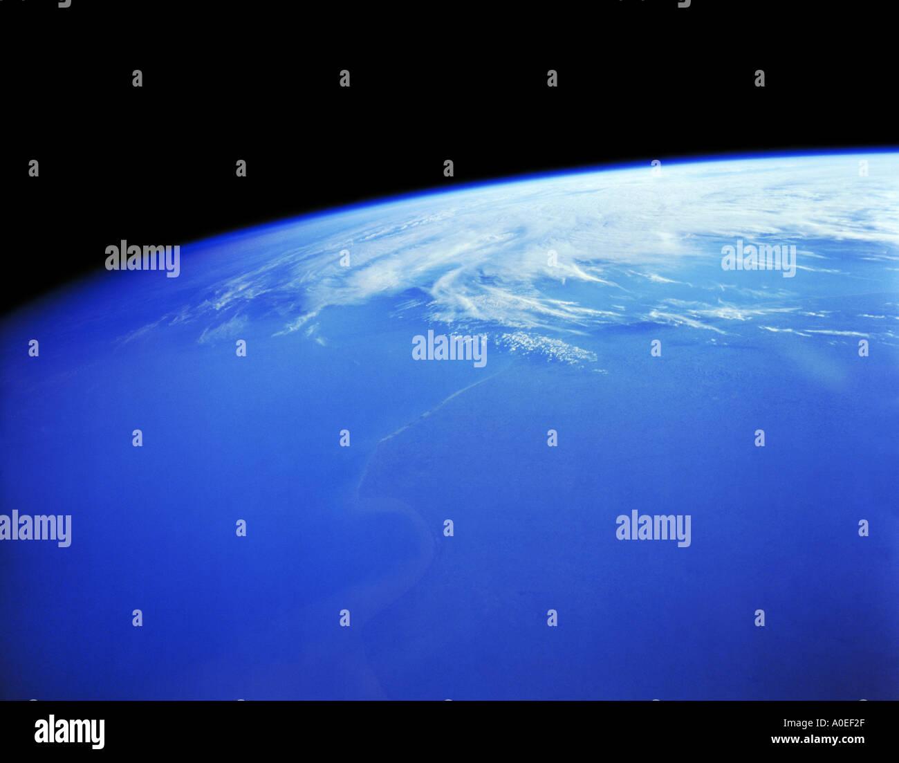 Erde aus dem Weltraum Stockbild