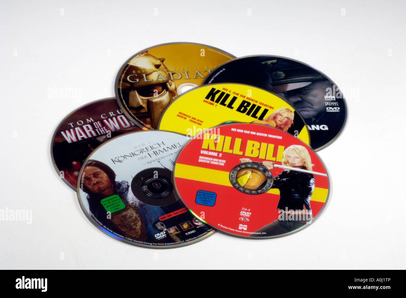 DVD-Filme Stockbild