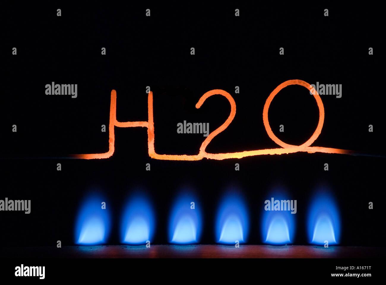 H2O 02 Stockbild