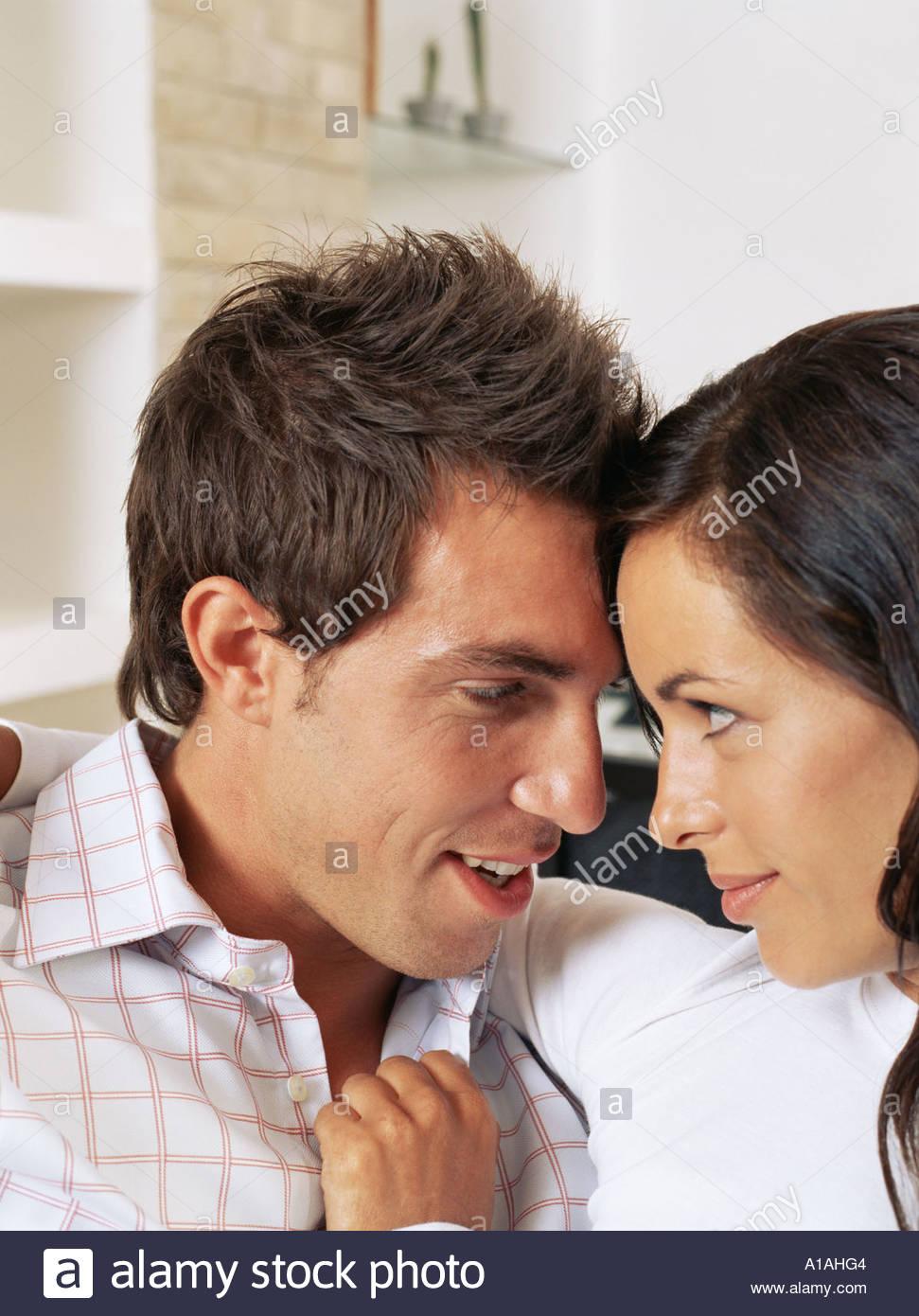 Porträt eines intimen Ehepaar Stockbild