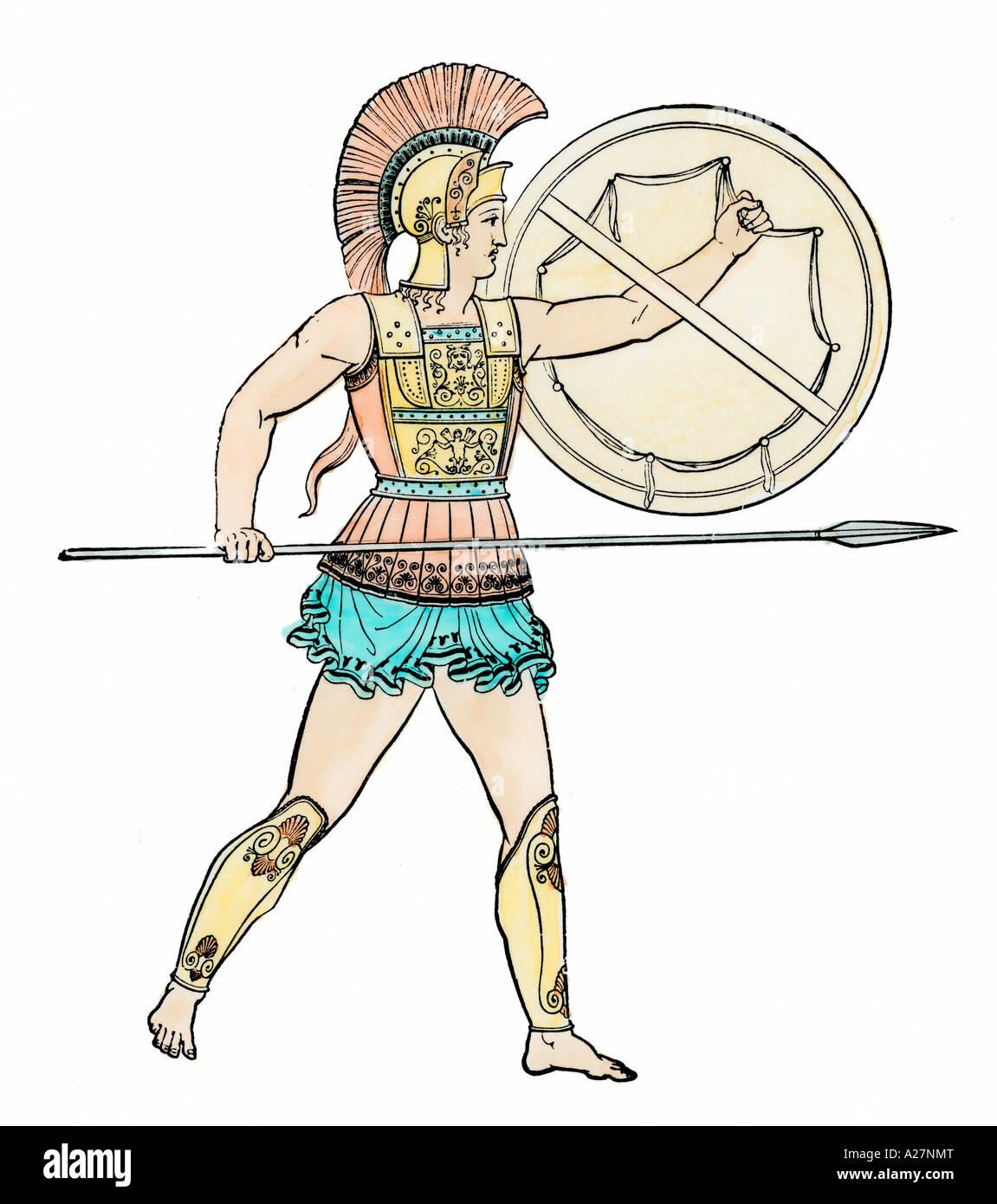 Krieger des antiken Griechenlands Stockbild