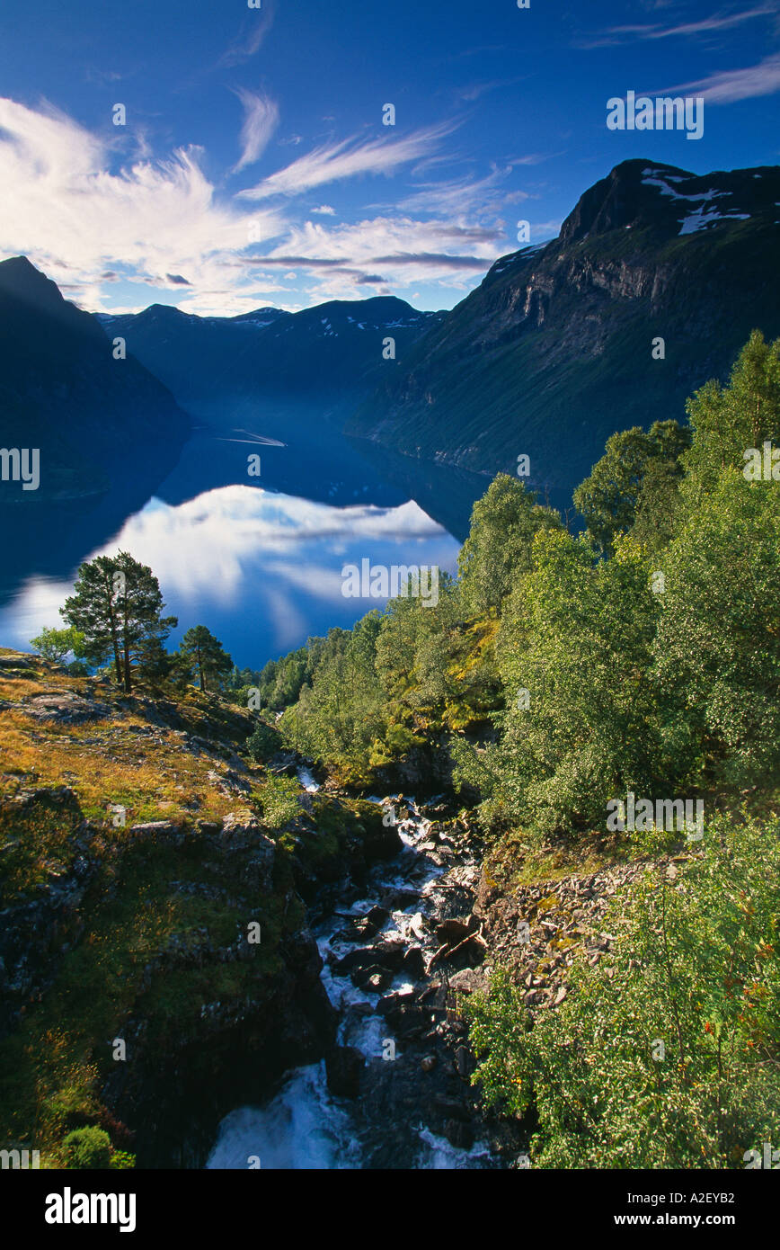 Gerainger Fjord-Norwegen Stockfoto