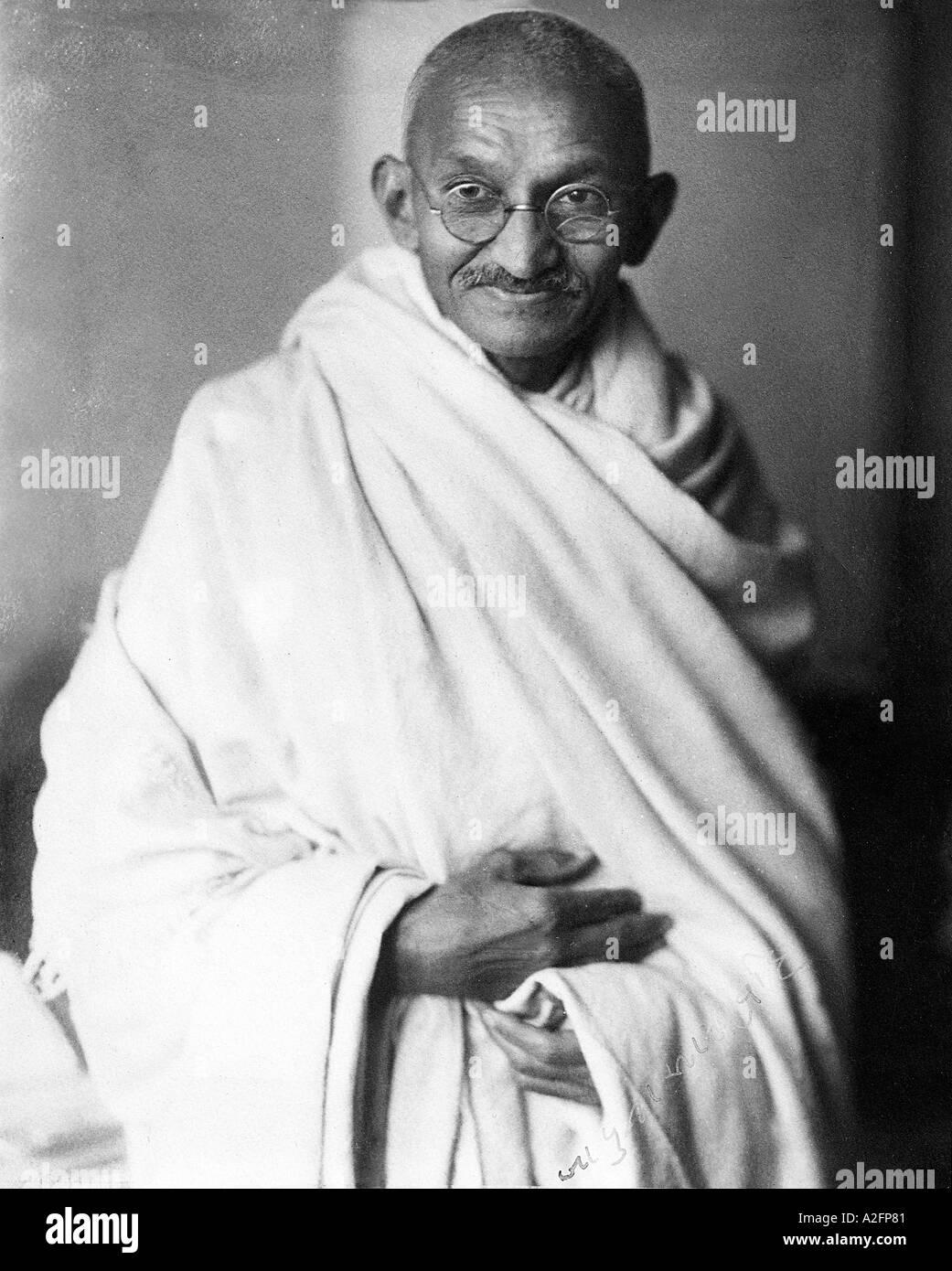 Seltene Studio Foto von Mahatma Gandhi auf Antrag des Herrn Irwin 1931 in London England Großbritannien genommen Stockfoto