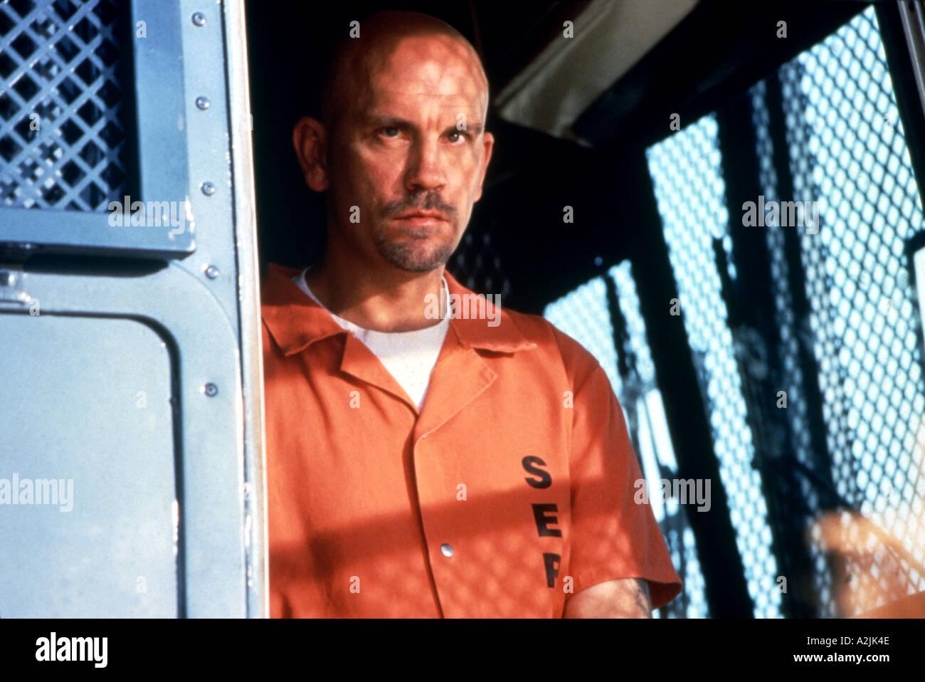 CON AIR John Malkovich als Cyrus Grissom in der 1997 film Stockbild