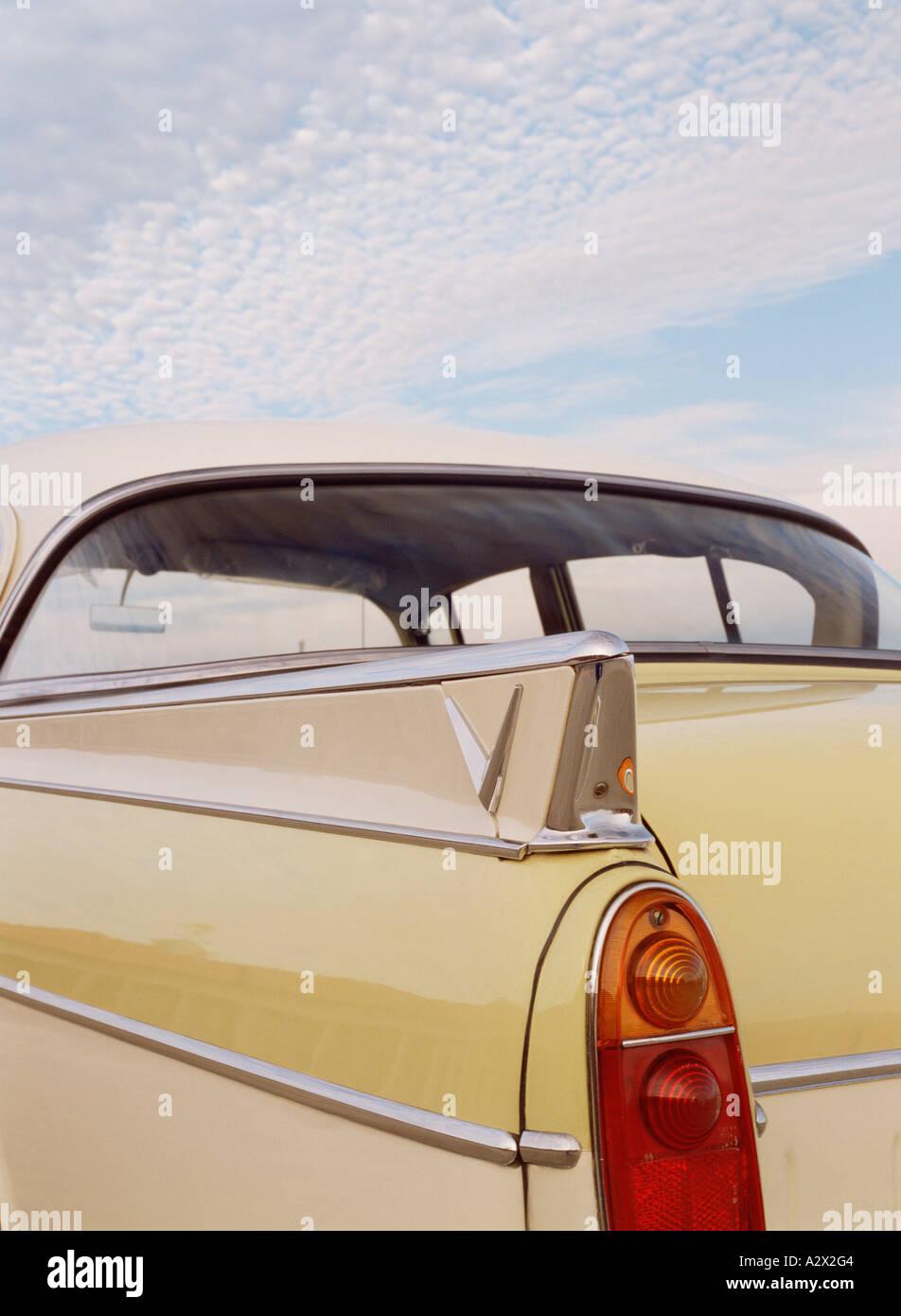 Transport. Straßenfahrzeuge. Jahrgang. classic car. 1950. Vauxhall Cresta. britischen. close-up des hinteren Stockbild