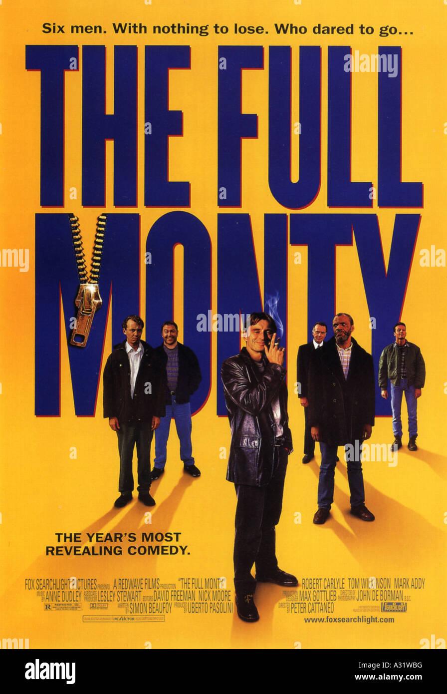 Das FULL MONTY Plakat für das Jahr 1997 TCF/Redwave film mit Robert Carlyle Stockbild