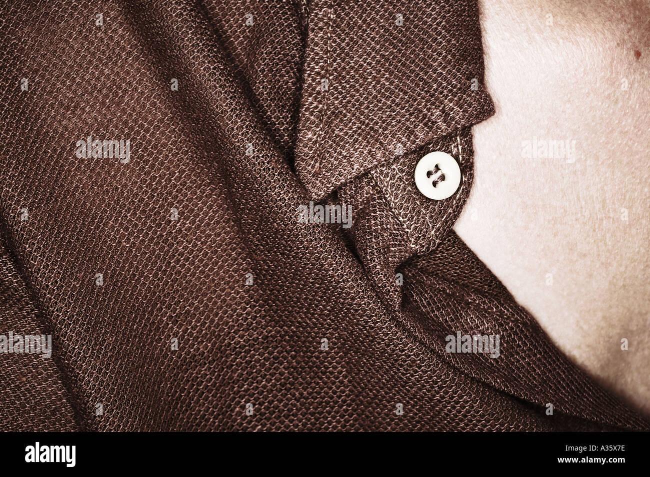 Nahaufnahme von Frau Braun italienische Hemd Stockbild