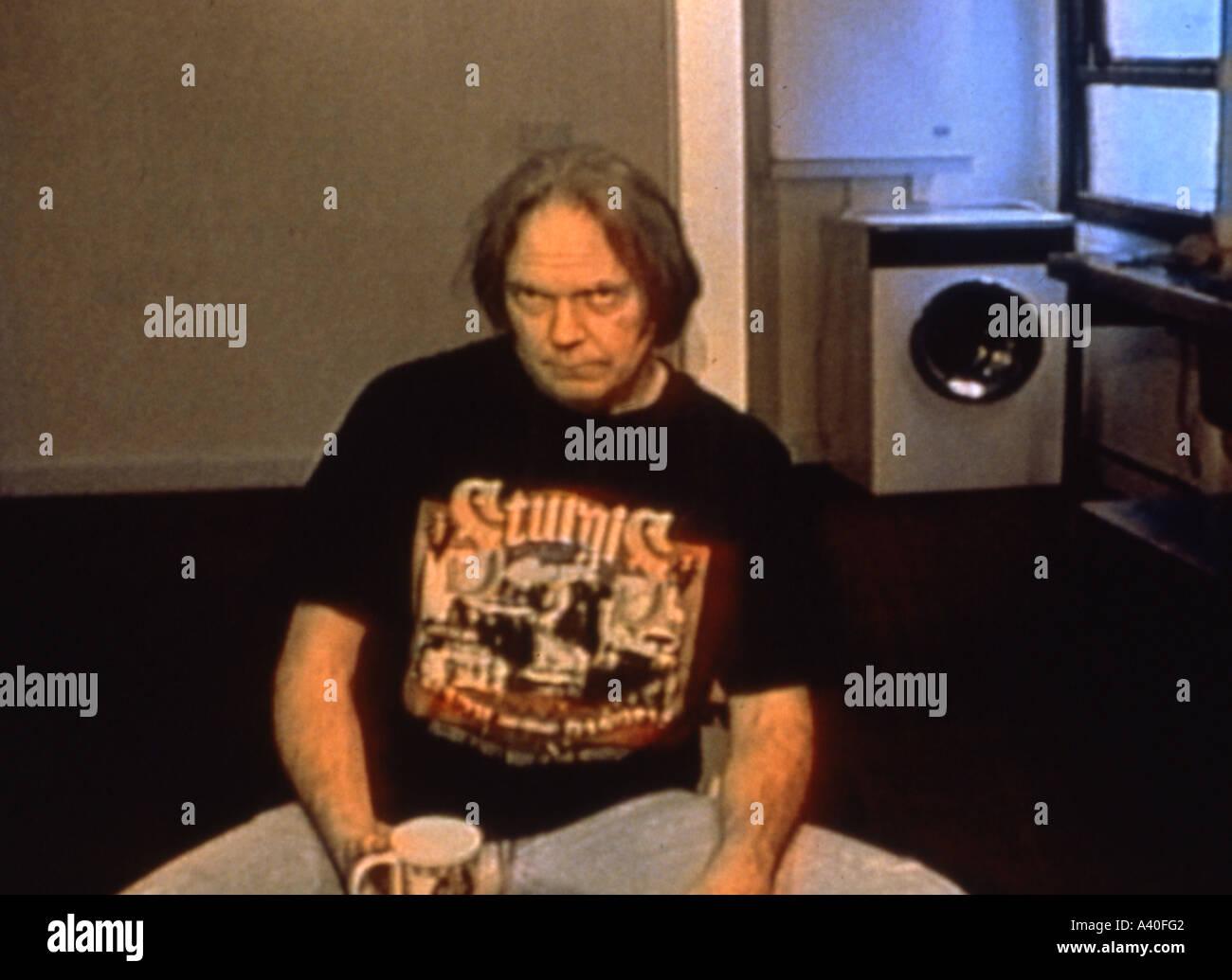 Jahr das Pferd 1997 Oktober Shakey Pictures Film über Musiker Neil Young Stockbild