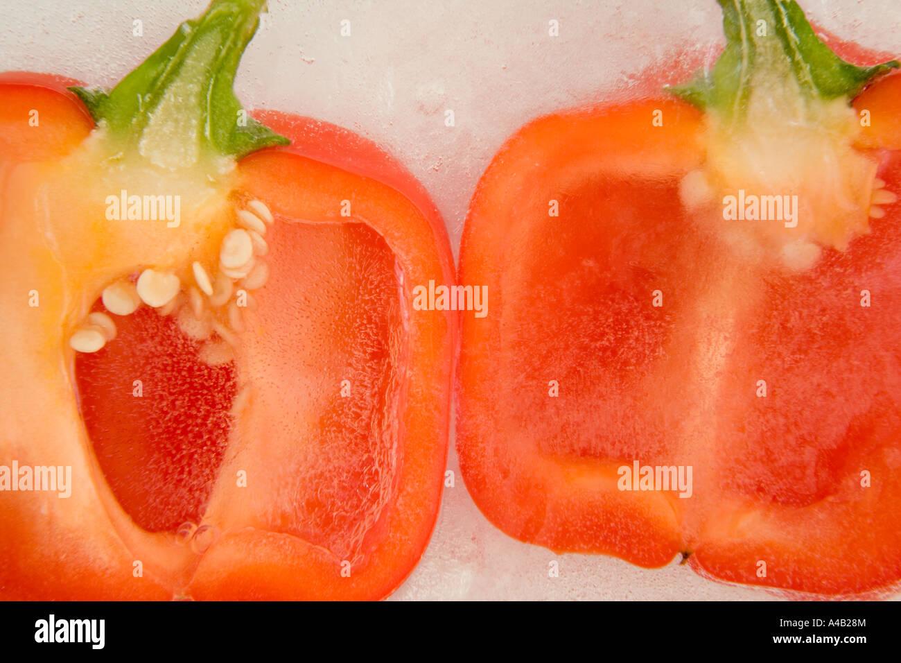 close up pepper seeds inside stockfotos close up pepper seeds inside bilder alamy. Black Bedroom Furniture Sets. Home Design Ideas