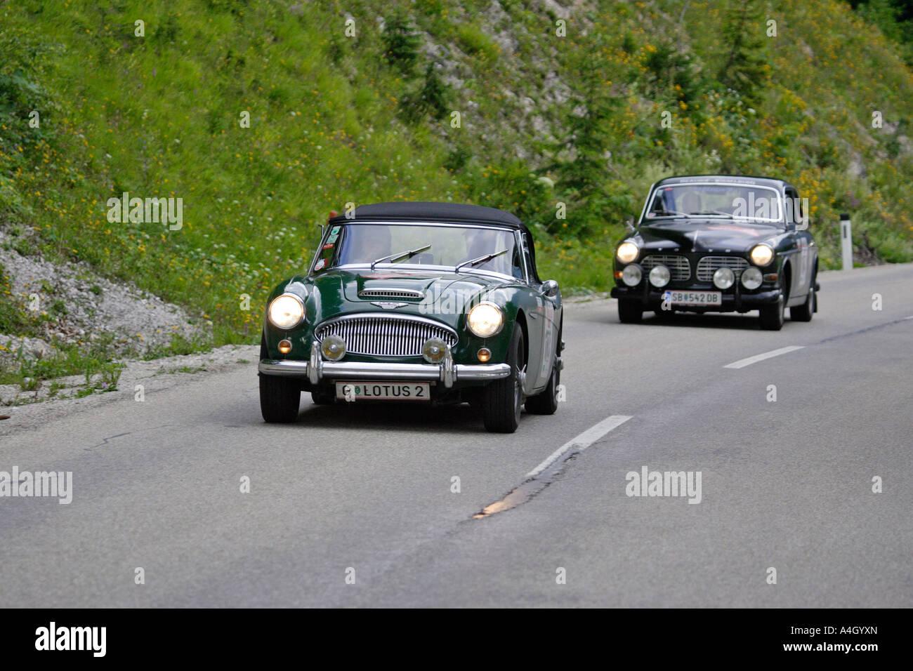 Austin Healey Mk III. gebaut 1964, Oldtimer rennen Ennstal Classic 2005, Steiermark, Österreich Stockbild