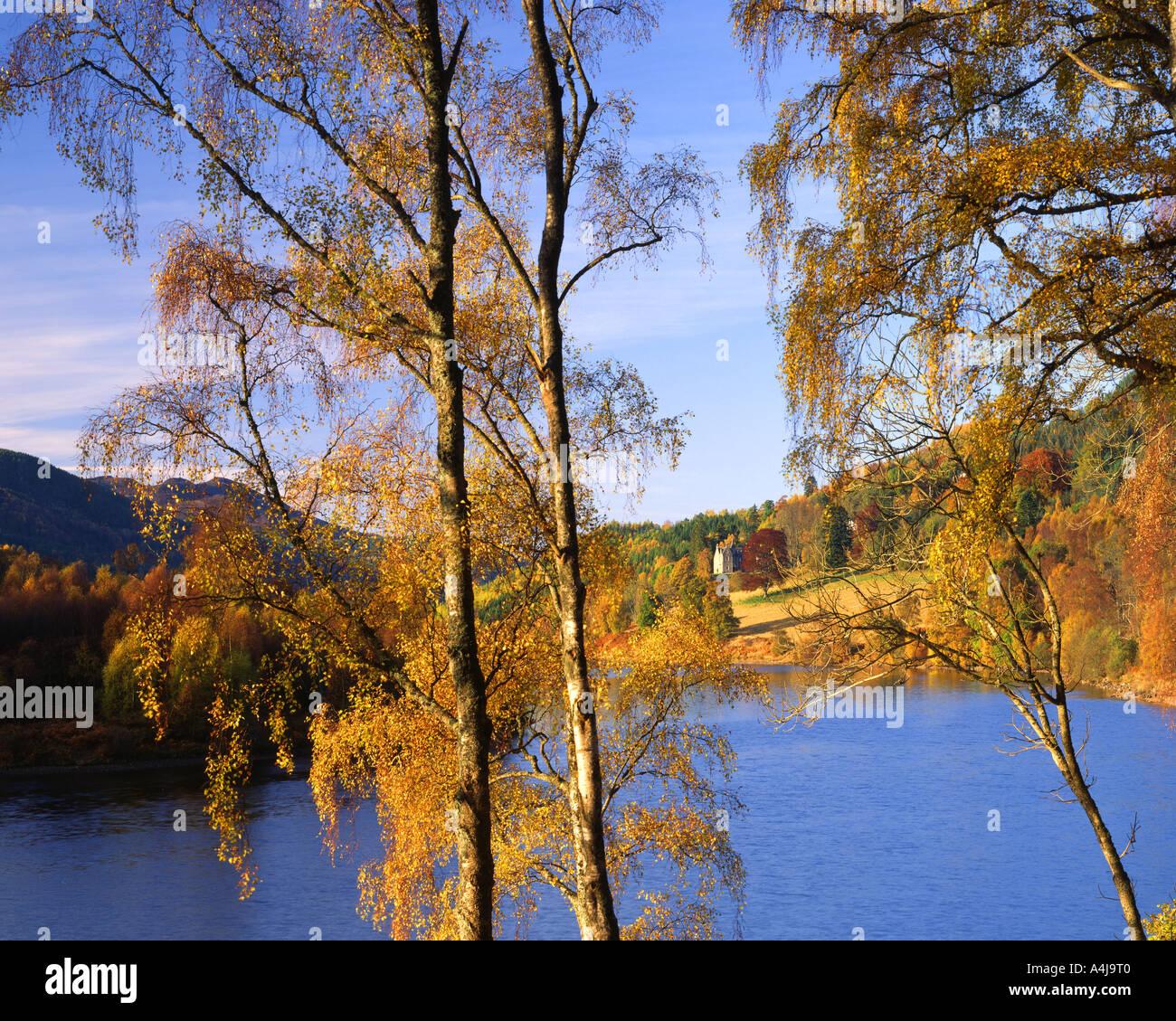 GB - Schottland: Herbst am Loch Tummel Stockbild