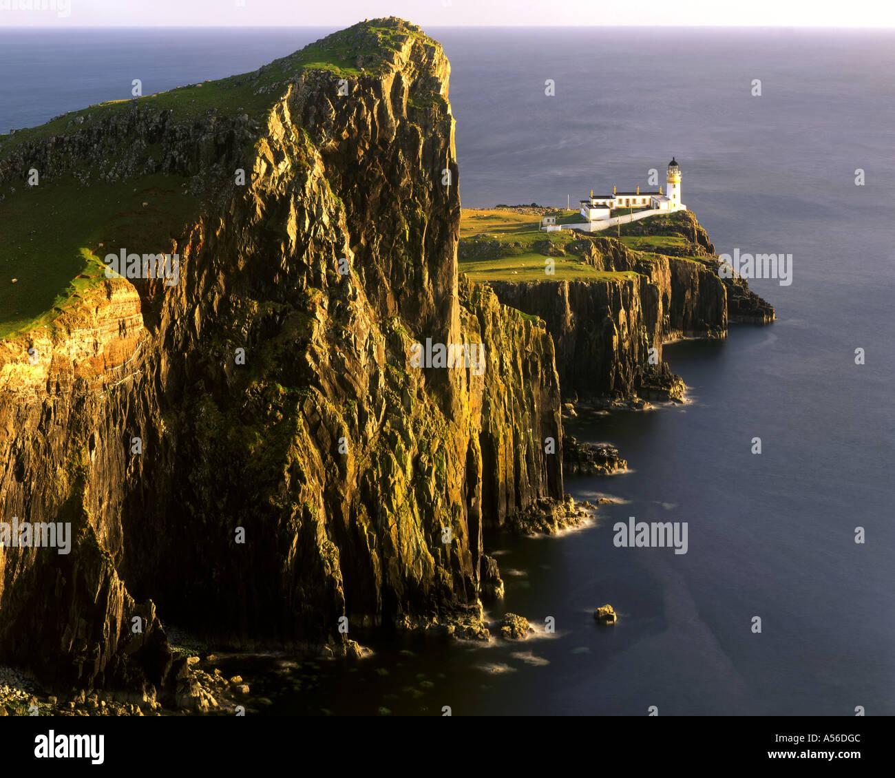 GB - Schottland: Landschaftlich Leuchtturm auf der Isle Of Skye Stockbild
