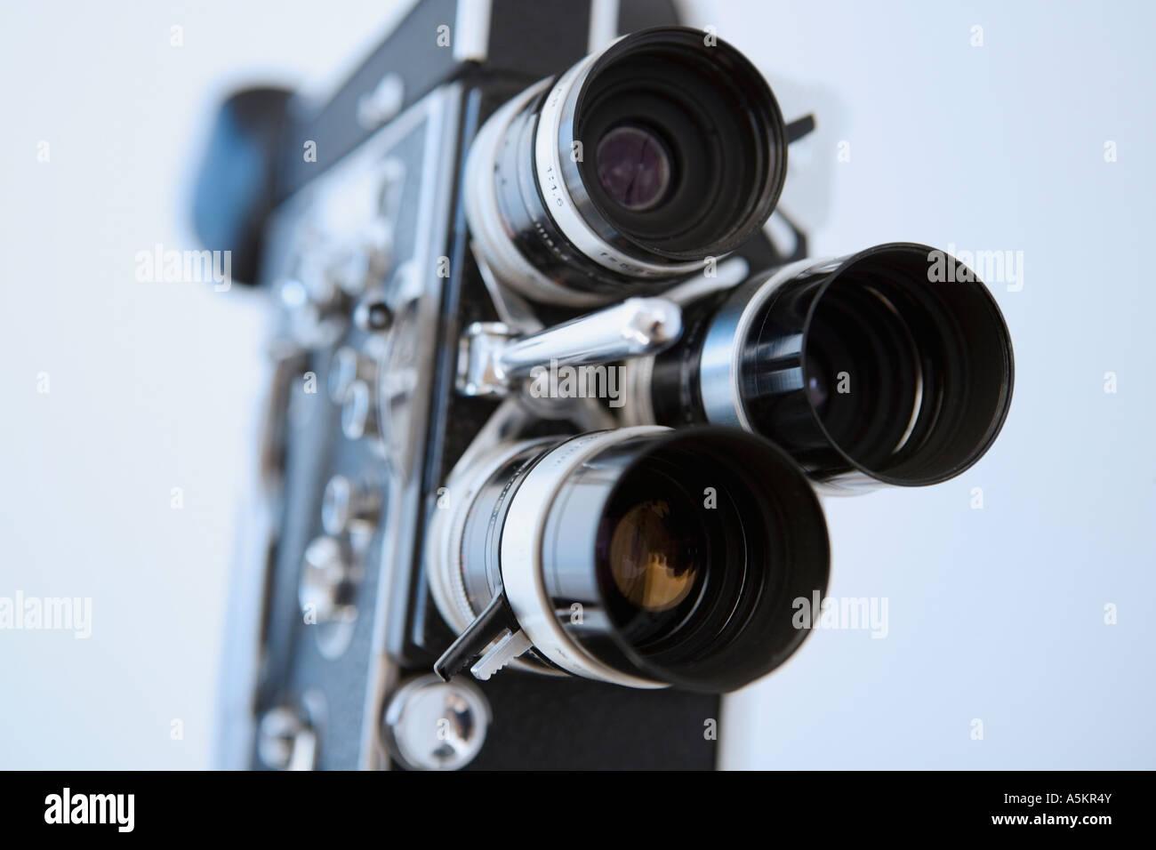 Nahaufnahme eines alten altmodischen Film-Kamera Stockbild