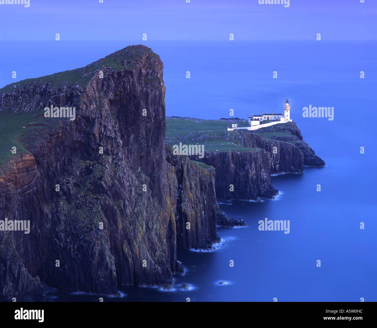 GB - Schottland: Landschaftlich Point Lighthouse auf der Isle Of Skye Stockbild