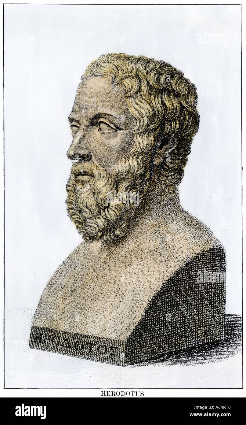 Der Vater der Geschichte Herodot Stockbild