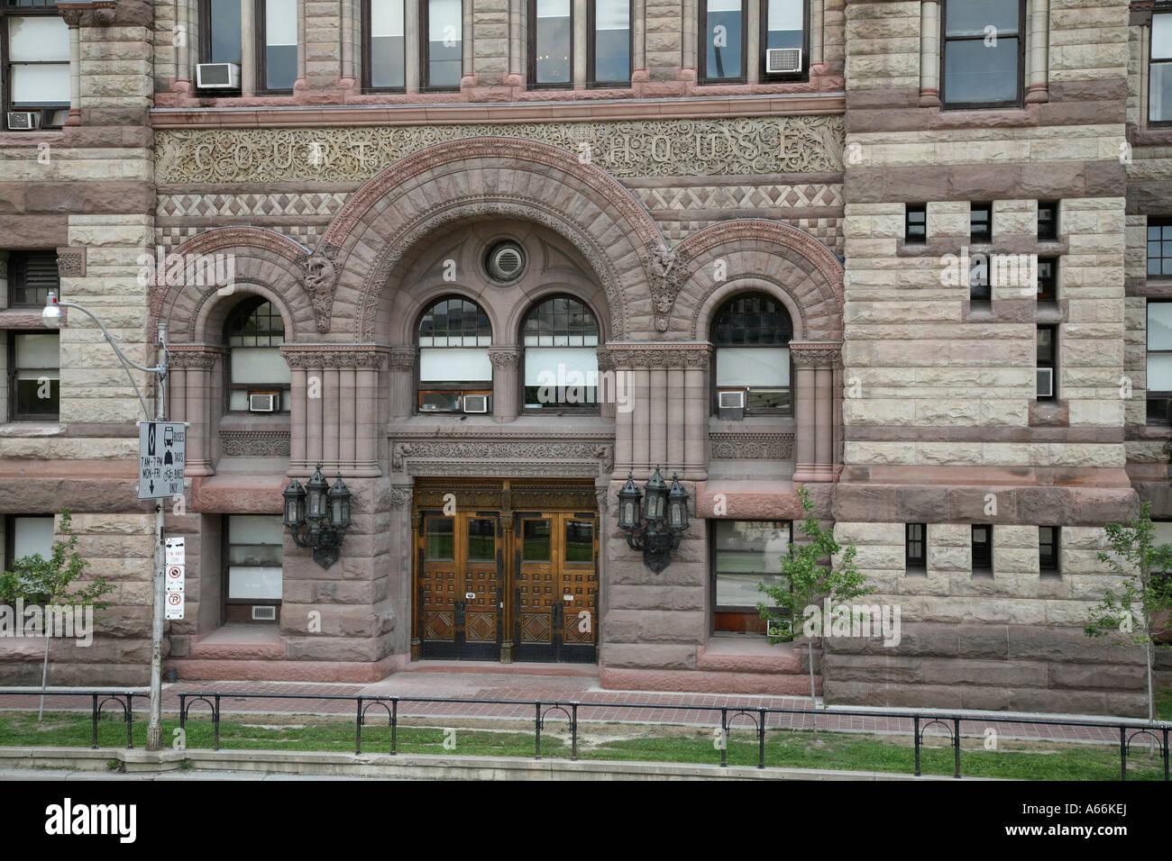 Eingang Zur Alten Toronto City Hall Und Gerichtshaus In City Of Toronto  Ontario Kanada Stockbild