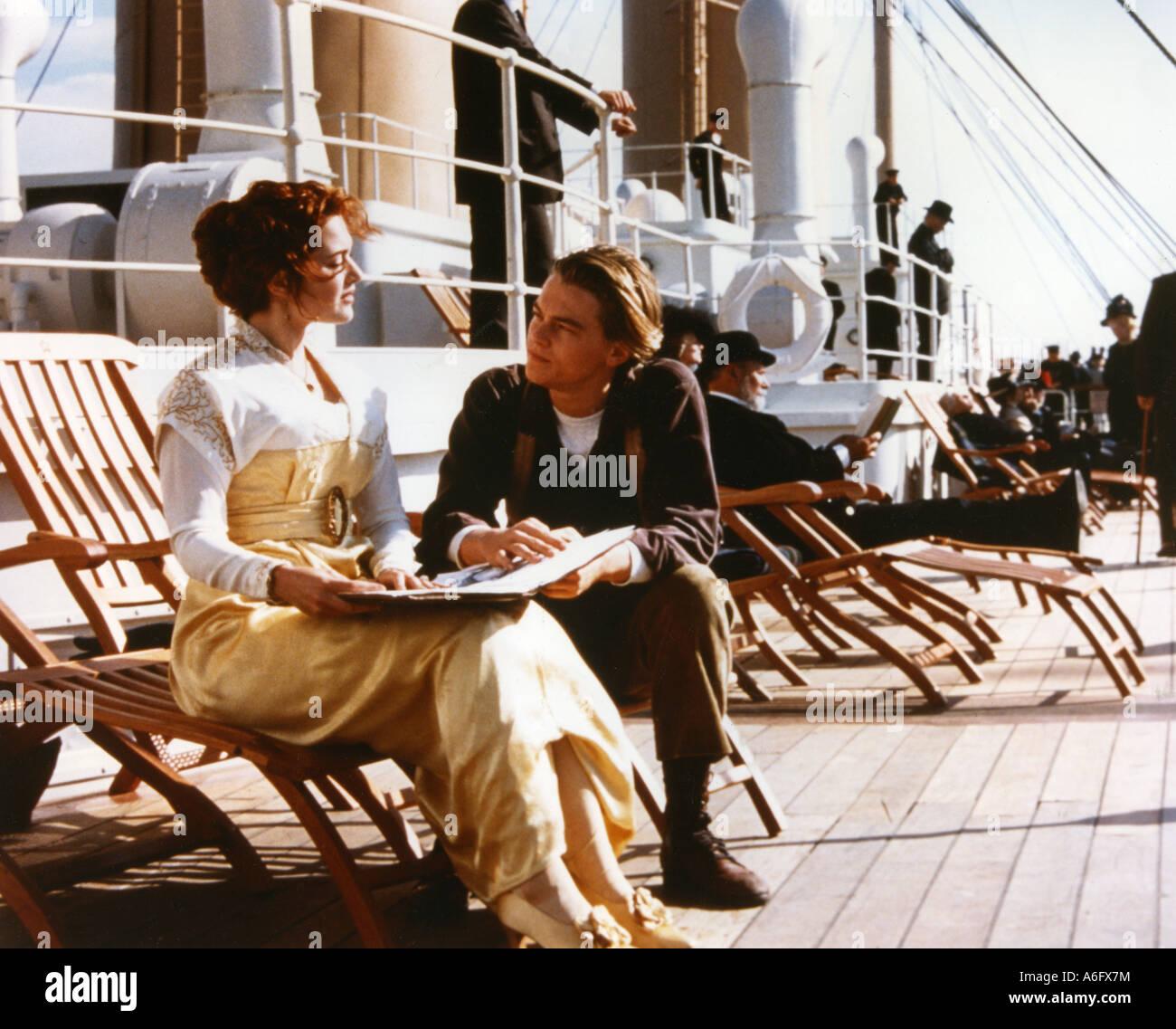 TITANIC-Oscar-prämierten 1997 TCF Film mit Leonardo DiCaprio und Kate Winslett Stockfoto