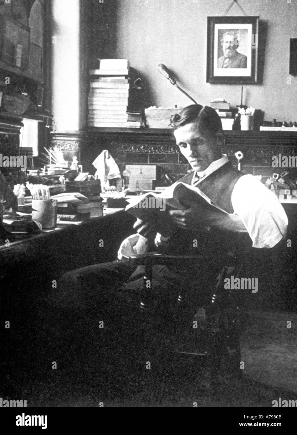 Alexander Fleming 1908 Stockfoto