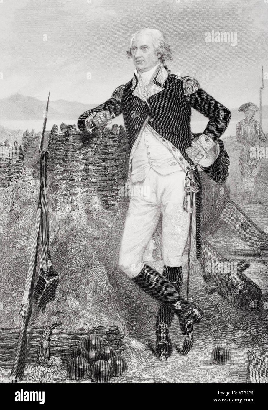 George Clinton 1739 1812 revolutionären Kriegsheld und vierte Vizepräsident der Vereinigten Staaten von Stockbild