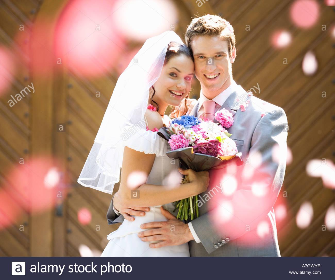 Portrait einer Braut und Bräutigam Stockbild