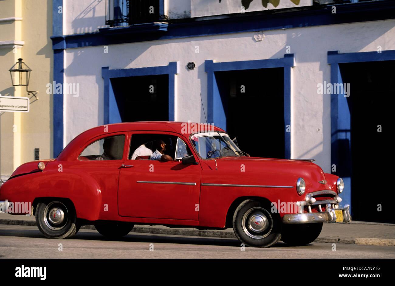 Kuba, Sancti Spiritus, amerikanischen Oldtimer der 50er Jahre Stockbild