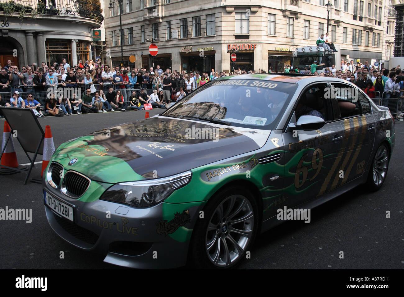 BMW M5 Team 69 Team Irland Fahrer Tom Bailey Jeff Bailey Paul Finlay Diego Macari Stockbild