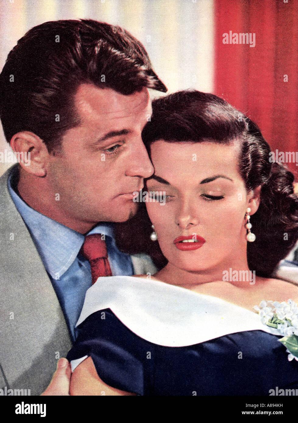 SEINE Art von Frau 1951 RKO-Film mit Robert Mitchum und Jane Russell Stockbild