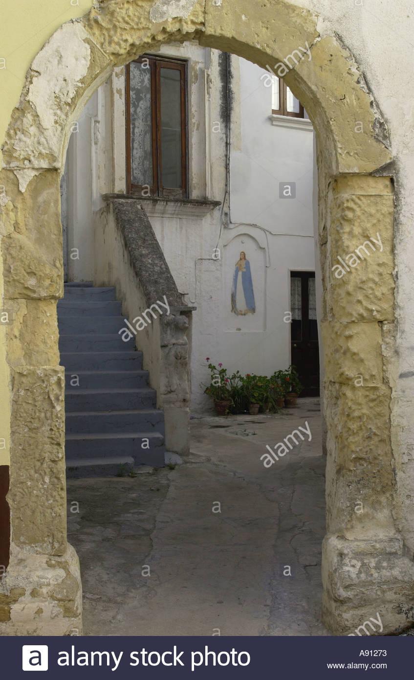 Italien-Apulien-Straße Stockbild