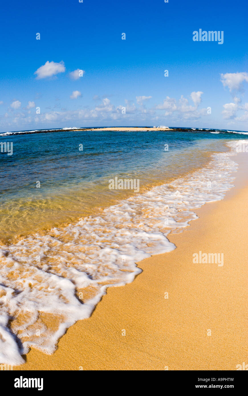 Poipu Beach Park Poipu Insel Kauai Hawaii Stockbild