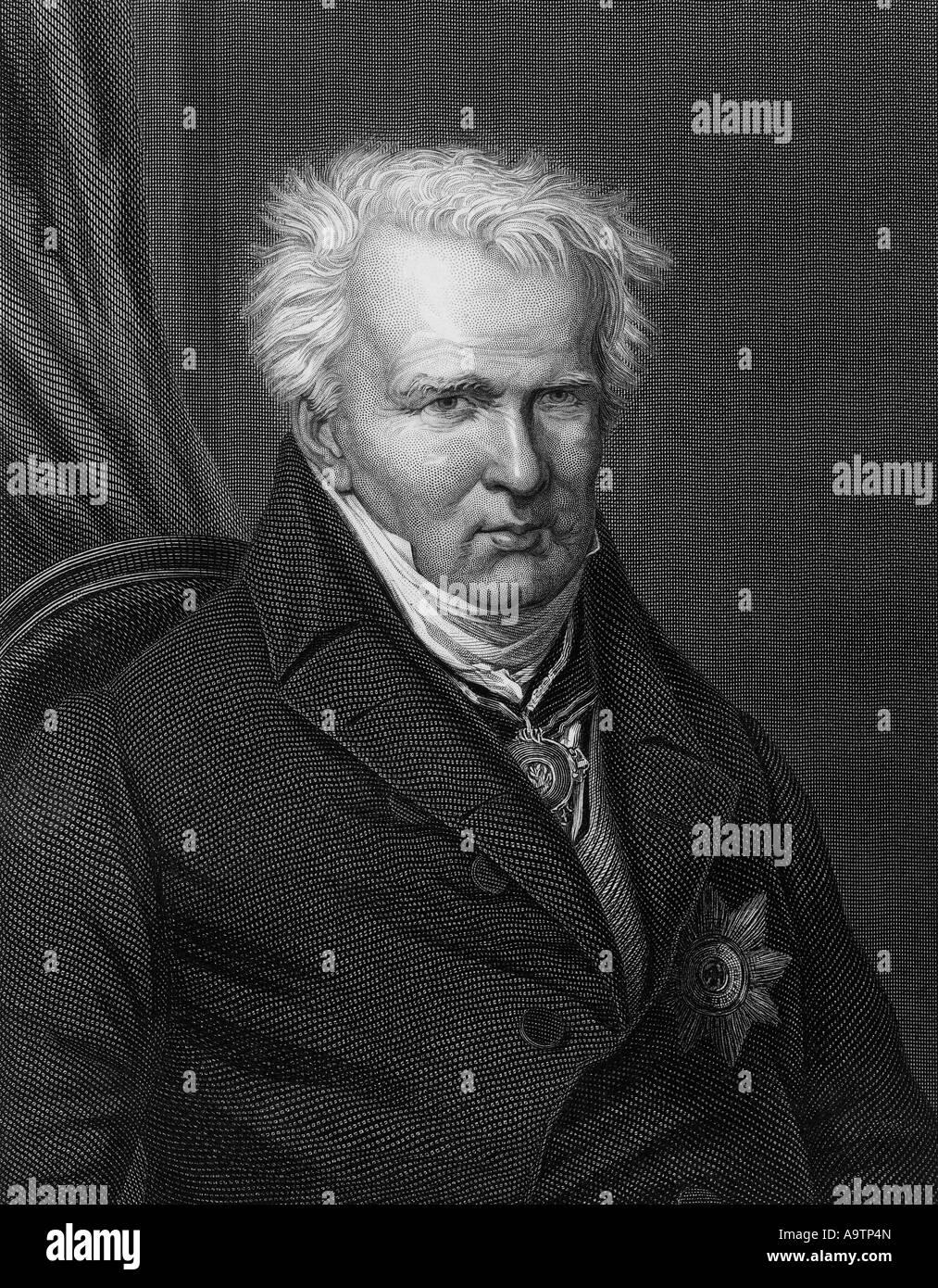 ALEXANDER VON HUMBOLDT (1769 ? 1859), deutscher Naturforscher und Entdecker Stockbild