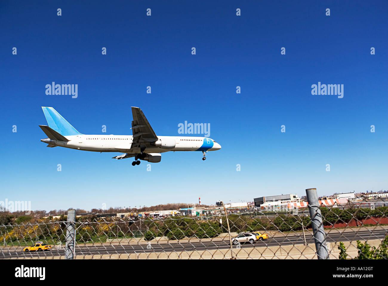 Flugzeug Landung Stockbild